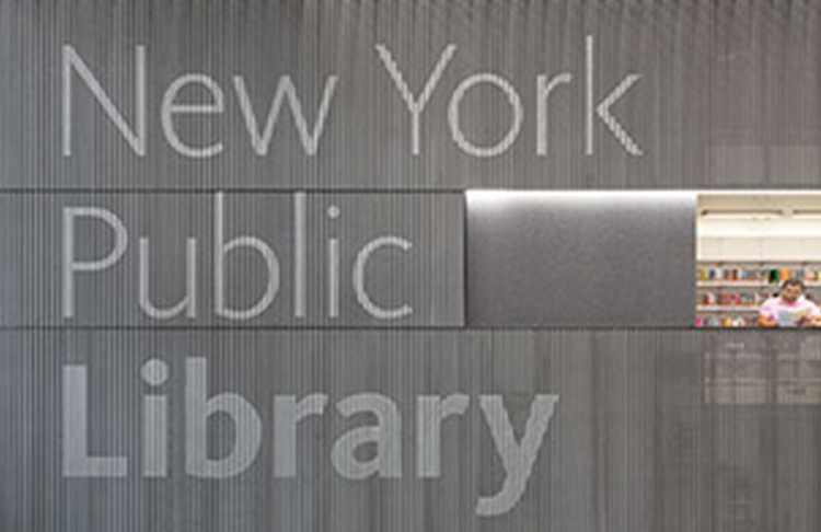 NYPL Environmental graphics