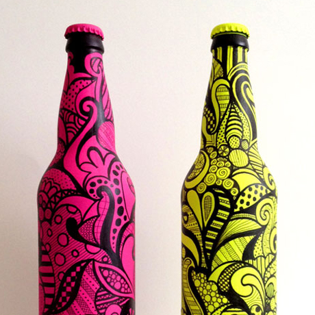 Doodled bottles: Personal project