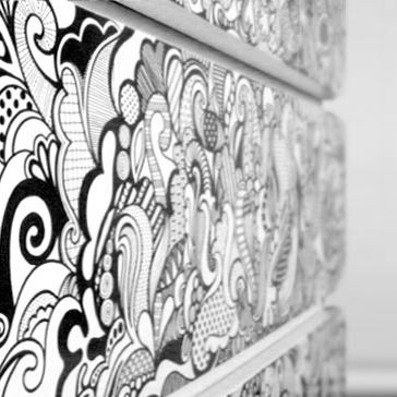 Sharpied dresser: Personal project