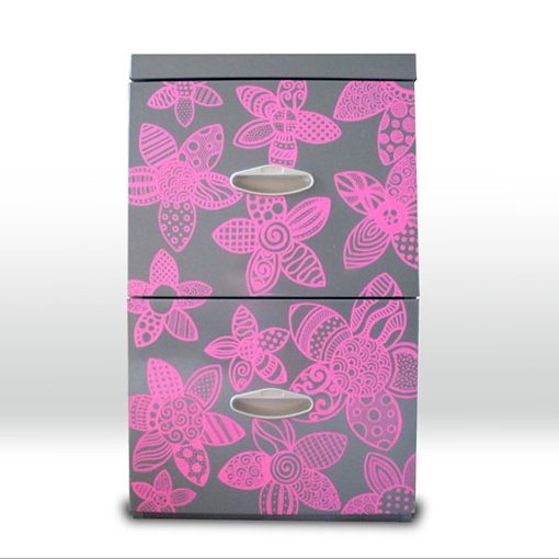 Painted file cabinet: Personal project
