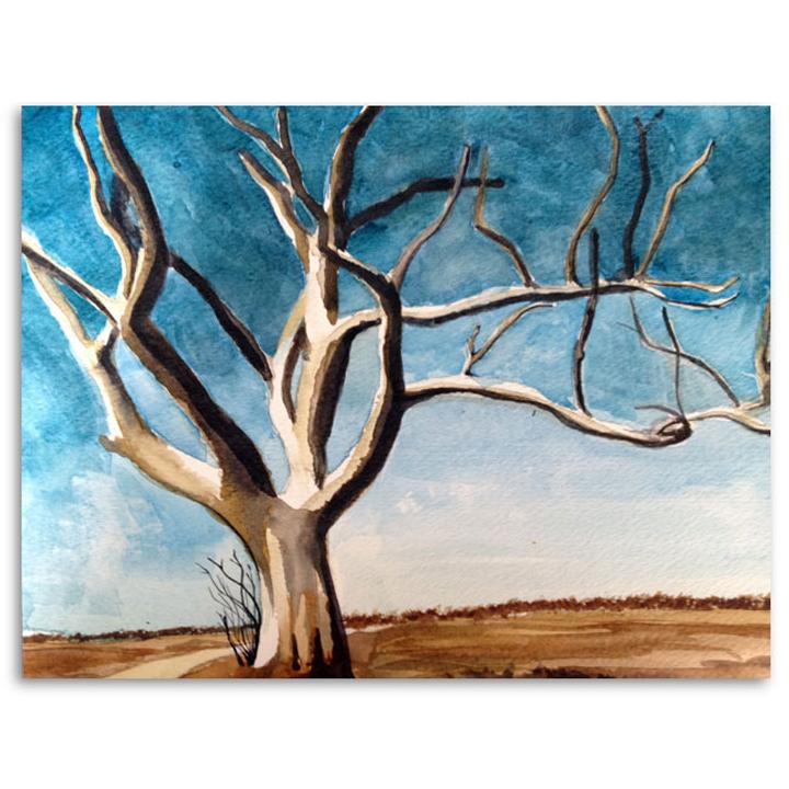 I  Treescape  9x11, watercolor