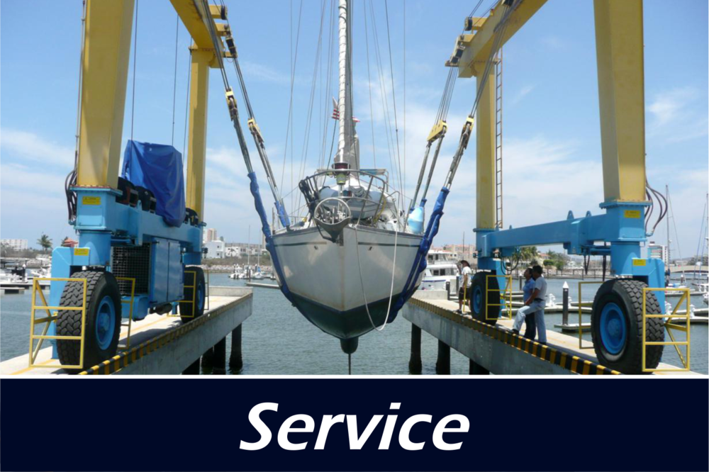 full service boat yard haul out mazatlan 55 ton capacity