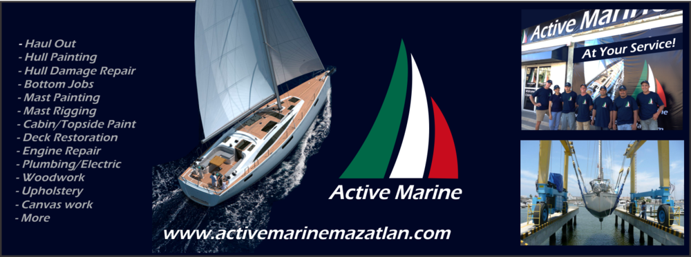 haul out bottom job sail power boat paint engine service mazatlan mexico
