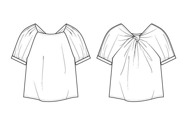 Technical Sketch - Blueprints for garments and accessories