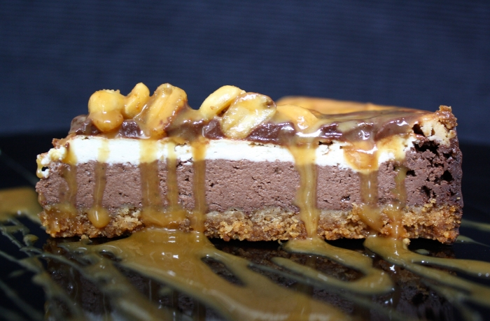 Vegan Lass Baked Snickers Cheesecake 1