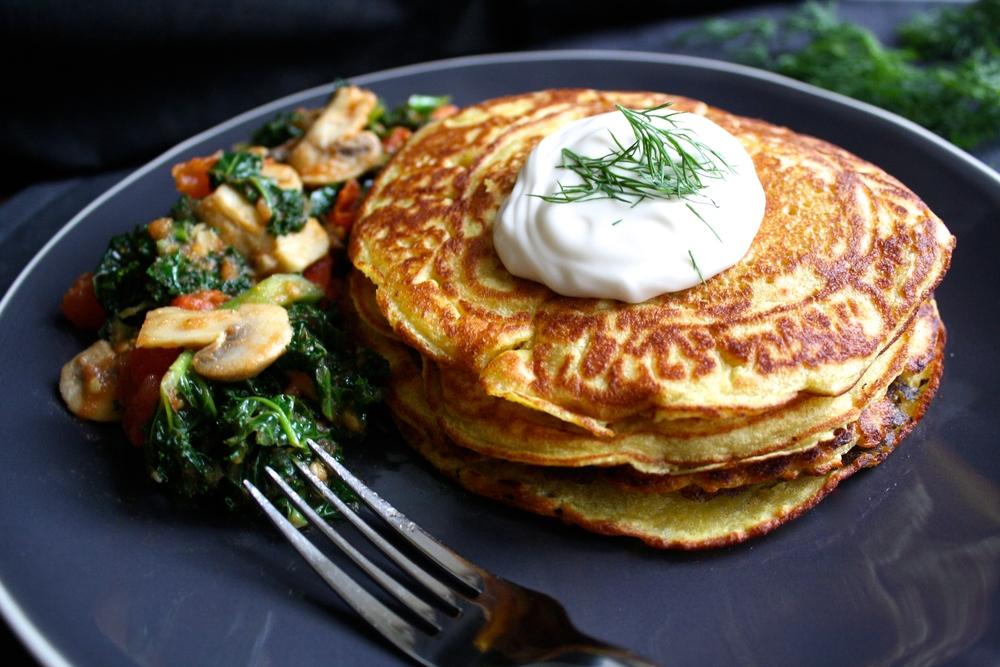 Vegan Lass Garlic Gram Pancakes