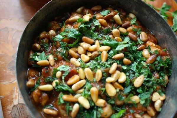 Vegan Lass Lebanese Chickpea and Aubergine Stew 2