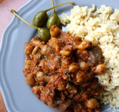 Vegan Lass Lebanese Chickpea and Aubergine Stew 3
