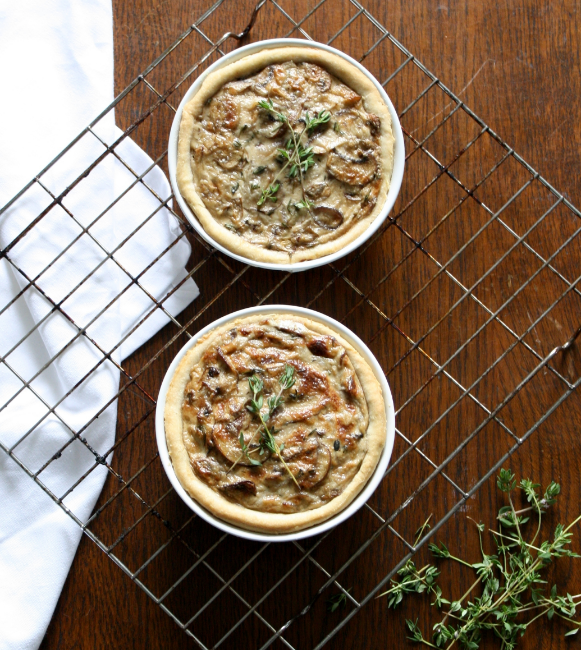 Vegan Lass Caramelised Creamy Onion Mushroom and Caper Tarts 2