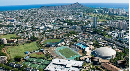 """Thanks, but we already know our campus is beautiful. IT'S IN HAWAII."""