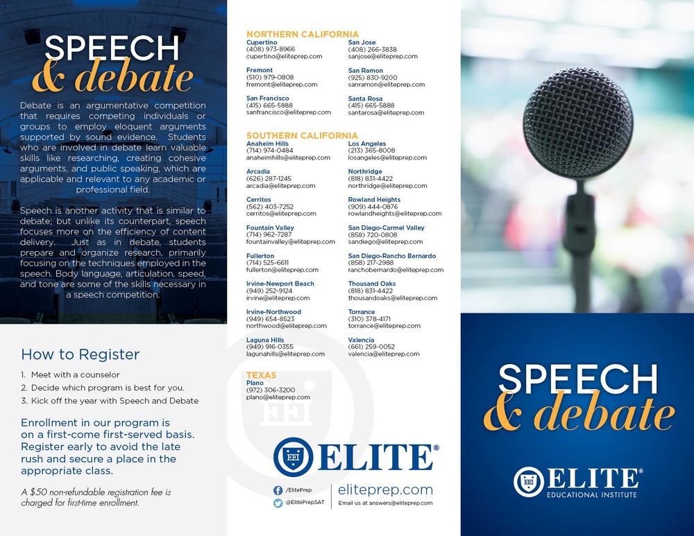 Elite Power Speech & Debate »