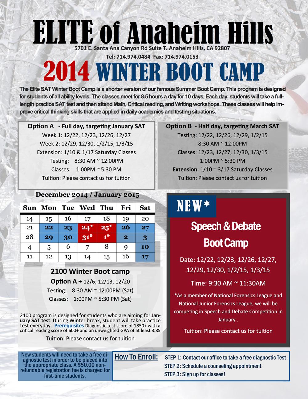 Winter 2014 Schedule »