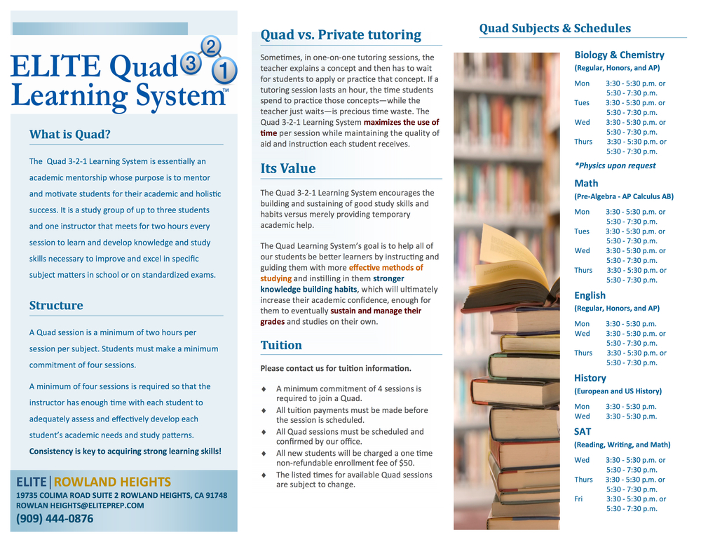 Elite 3-2-1 Quad Learning System »