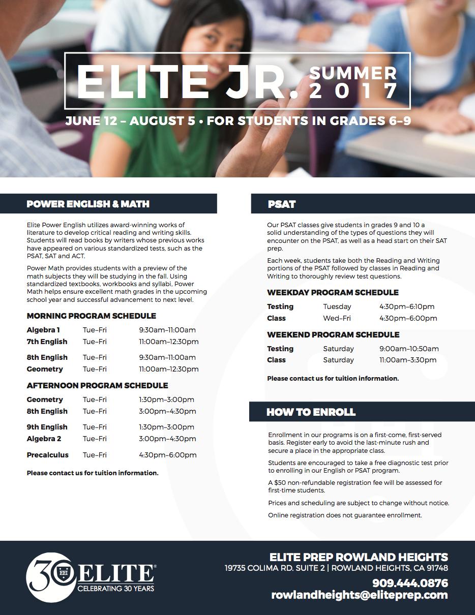 Elite Jr. Summer 2017 »