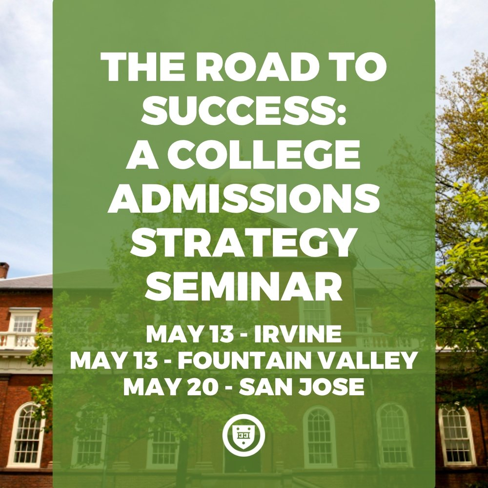 The Road to Success: A College Admissions Strategy Seminar