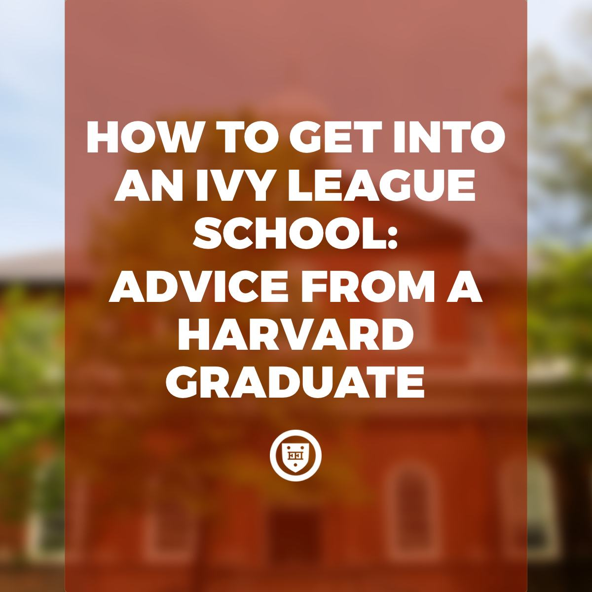 How to Get Into an Ivy League School: Advice from a Harvard