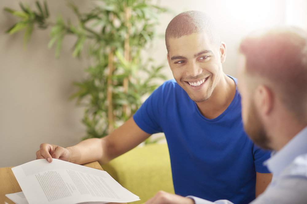 Male student in tutoring session
