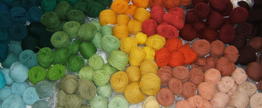 Partial yarn palette