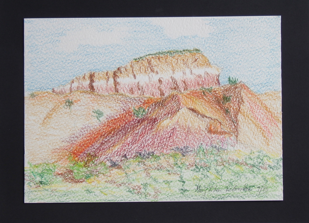 Mary Ellen Lagendre watercolor sketch from 2013 Ghost Ranch class