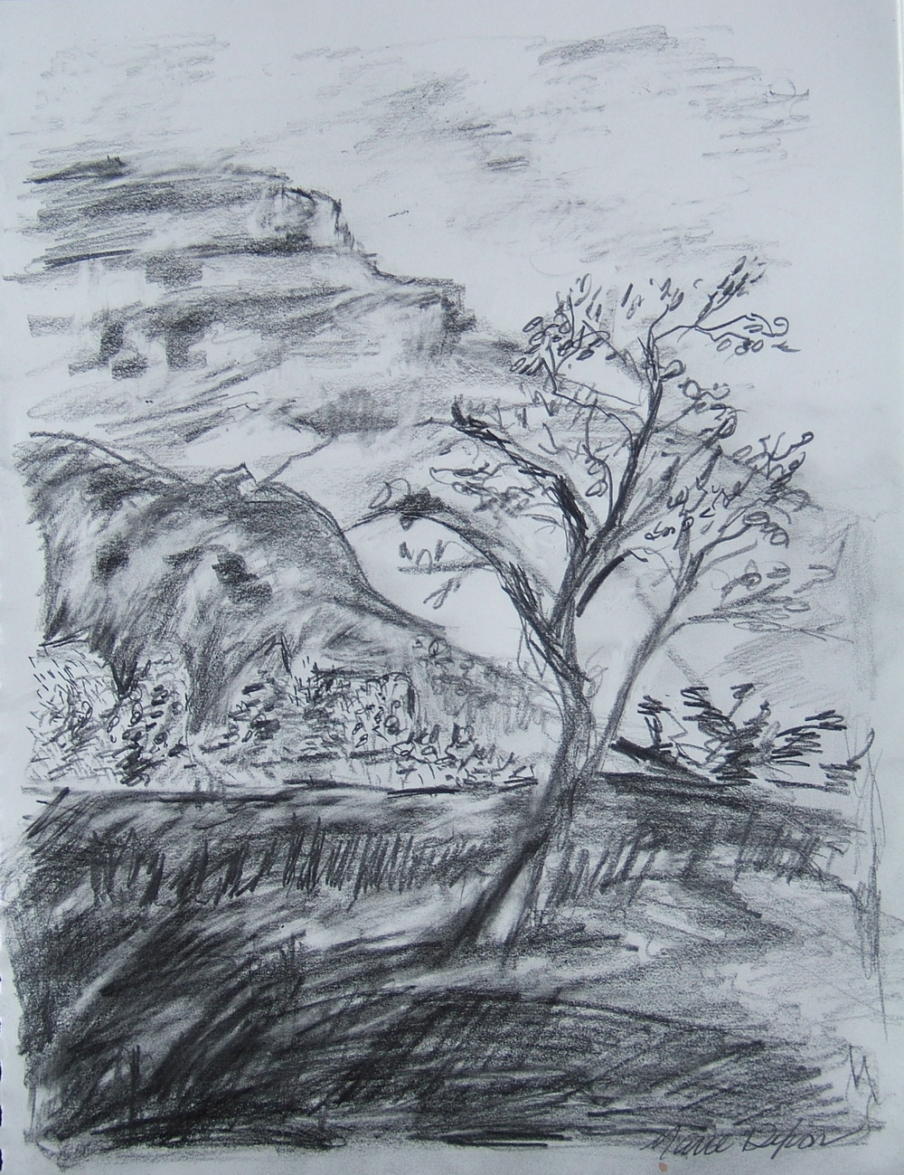 Marie Dixon sketch from 2013 Ghost Ranch class