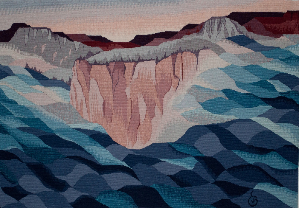 "When the Ocean and Desert Were One     28"" x 40""    ©1998 Elizabeth J. Buckley               photo credit: Nancy Wohlenberg"