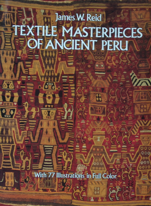 Book cover of Huari and Inca textiles, a Dover publication