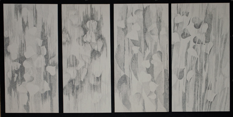 "Leaf studies for the tapestry ""Dialogues Through the Veil"""