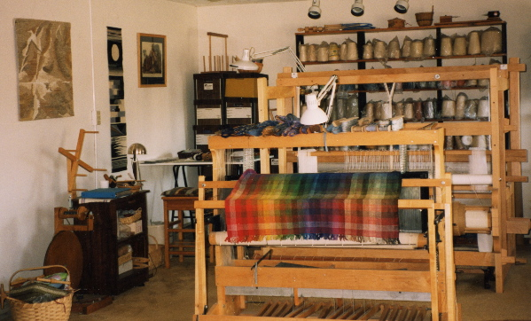 Esther Kolling's Socorro studio,  main room