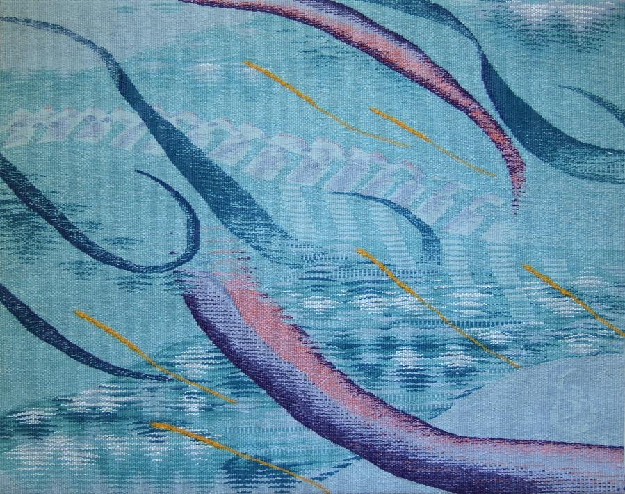 """Ocean Memory  20"""" x 25"""" © 2014 Elizabeth J. Buckley"""