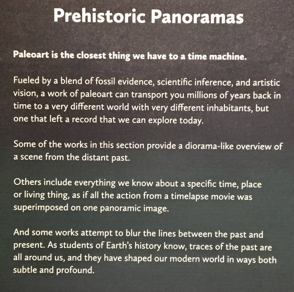 Exhibit Narrative on Prehistoric Panoramas