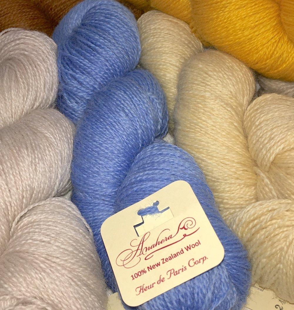 Anahera  yarn, 3 ounce hanks photo credit: Elizabeth J. Buckley