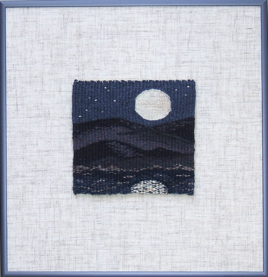 "Super Moon ,   10 3/8"" x 10 1/8"" ©2018 Elizabeth J. Buckley"