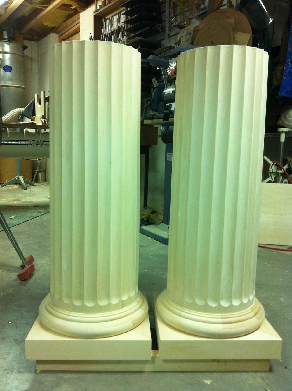 Pair of Column Pedestals