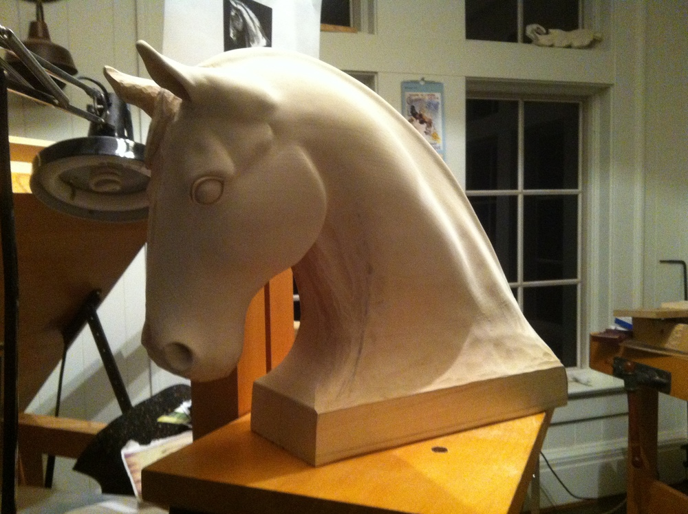 Horse Head Sculpture in progress