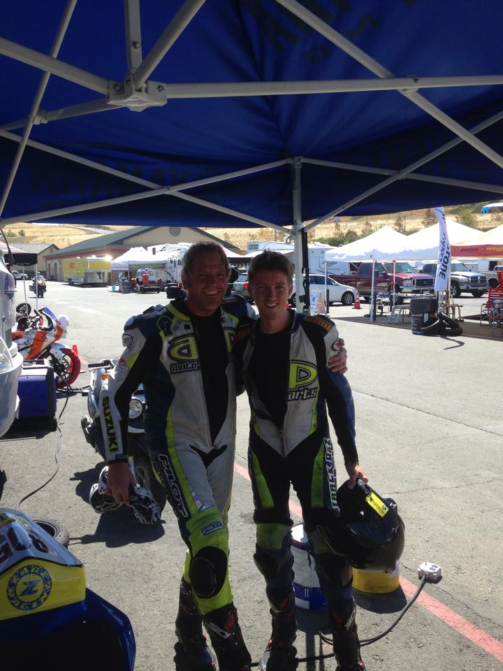 Me and Brad Perdiew. After a race at Sonoma Raceway