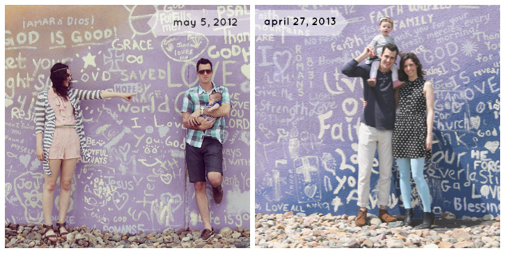 one year apart family photo wall2
