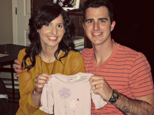 Gender reveal party. It's a girl!
