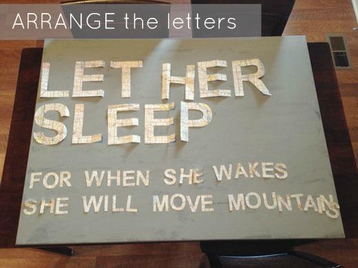 Let Her Sleep - DIY Nursery Art