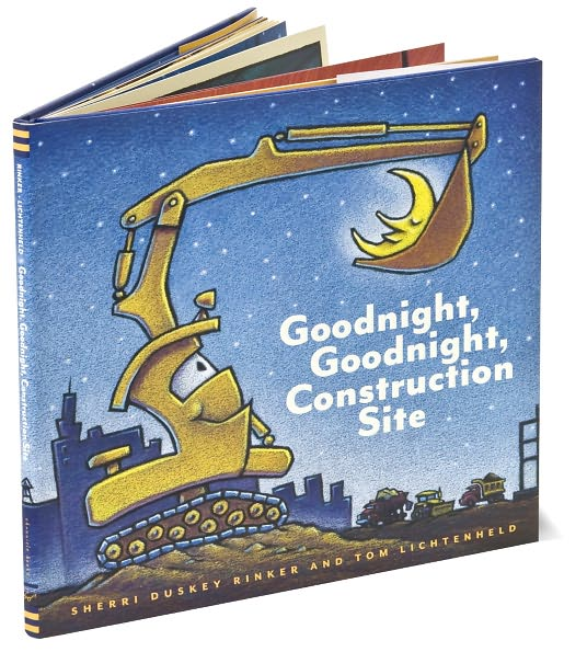 Goodnight, Goodnight Construction Site :  If I'm buying for a boy, this book is my go-to gift, even though we have a girl and LOVE it. It is a hardcover book with paper pages, so it's geared toward older toddlers who don't rip/eat books, but we read it to Rooney when she was little, too.