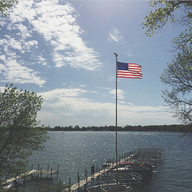 West Okoboji Lake is where we love to boat and swim. It was once thought to be one of three blue water lakes in the world because of its amazing water quality and color.