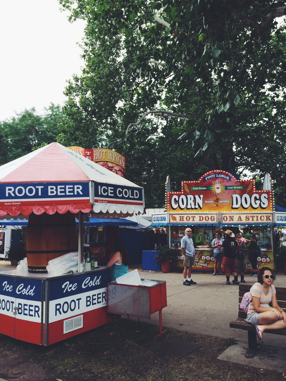 Corn dogs and root beer - the perfect combination!