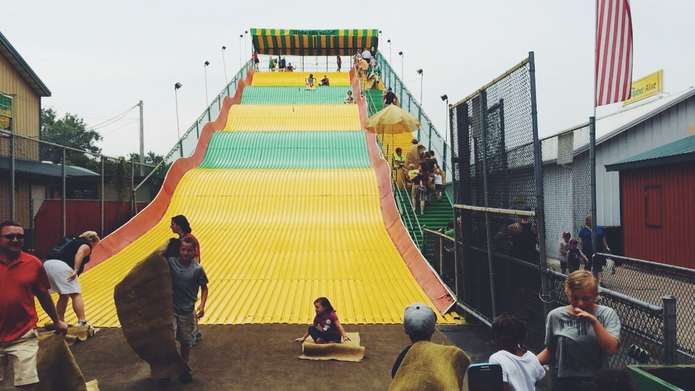 In case you missed my summer bucket list recap, Roo and I went down the giant slide together!
