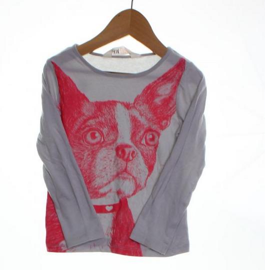 H&M puppy shirt // size 2 // $3.89