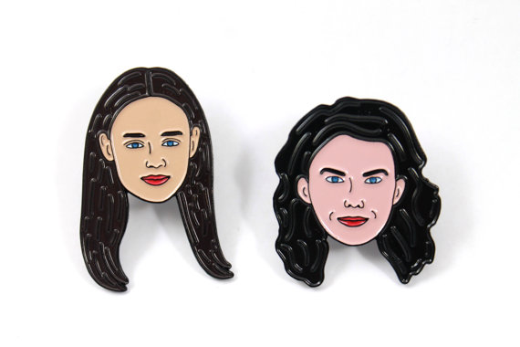Enamel pin set  ($10-12)