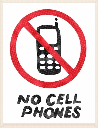 """No cell phones"" sign  (free download)"