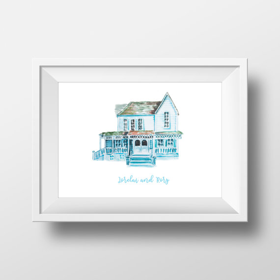 Lorelai's house illustration  ($2 download)