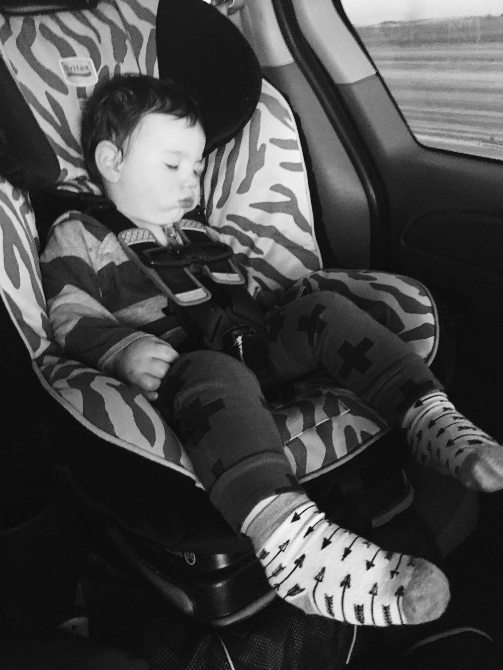 A rare car nap!