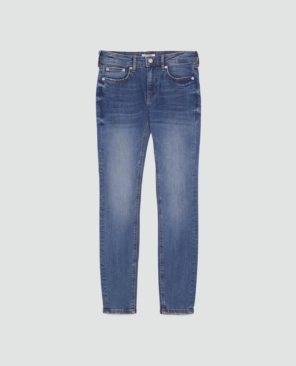 I now own three pairs of   this exact denim  . I wish they were high-waisted, but they're still great.