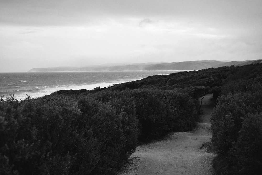 Looking down the south east coast of Victoria