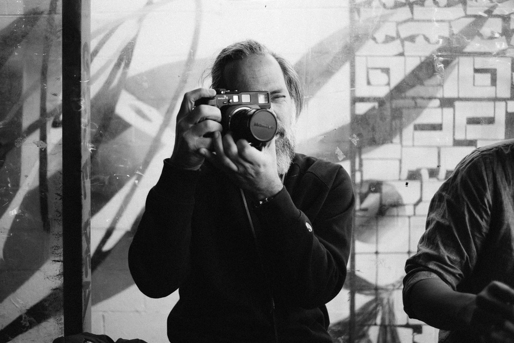Simon with Jeremy's Mamiya 7II.